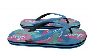 Plážové žabky F92Z08-B00H modro-růžová - GUESS modro-růžová