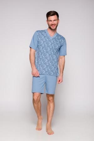 Pánské pyžamo 001 ROMAN KR 2XL-3XL modrá 2XL