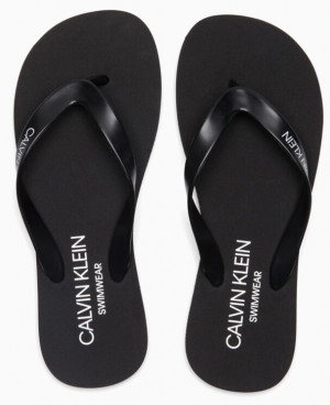 Plážové žabky Flip-Flops Sandals KM0KM00341 - Calvin Klein černá 37/38