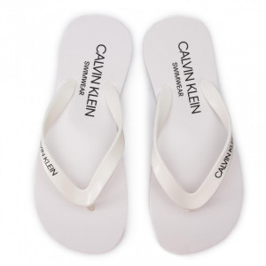 Plážové žabky Flip-Flops Sandals KM0KM00341 - Calvin Klein bílá 39/40