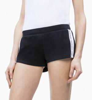 Dámské plážové šortky KW0KW00700-094 černá - Calvin Klein černá