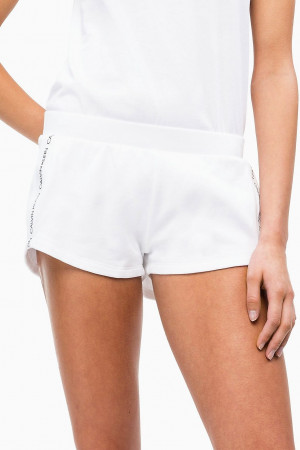 Dámské plážové šortky KW0KW00700-143 bílá - Calvin Klein bílá