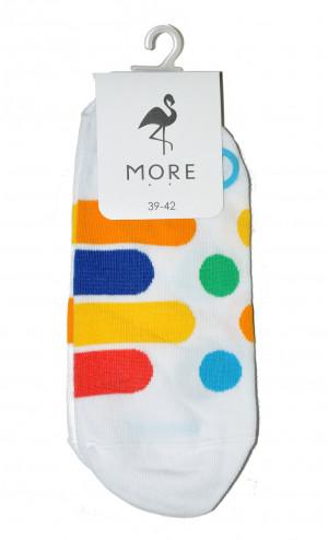 Dámské ponožky ťapky More 113  bílá 39-42