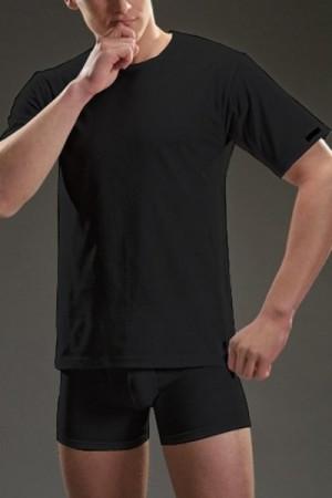 Cornette authentic 202 krátký rukáv new plus černé Pánské tričko 4XL černá