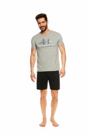 Henderson Joke 36826-90X šedé Pánské pyžamo L šedá