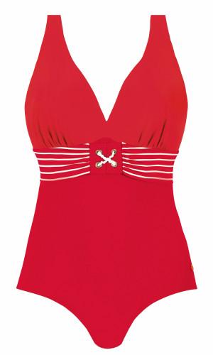 Jednodílné dámské plavky Self S 600 M6 červená 44F/G