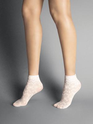 Dámské ponožky Veneziana Fabienne korálová univerzální