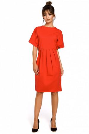Dámské šaty B045 - BEwear červená 2XL/3XL