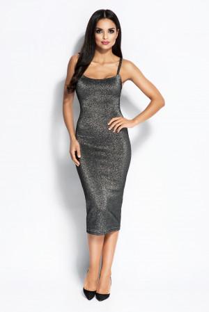 Dámské šaty 090 - Dursi černo-stříbrná