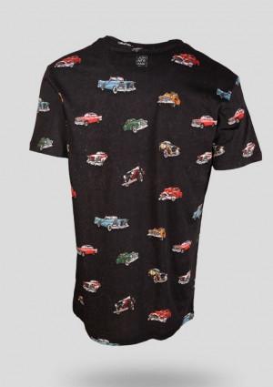 Pánské tričko John Frank JFTD09 M Černá
