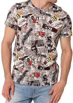 Pánské tričko John Frank JFTD34 M Dle obrázku