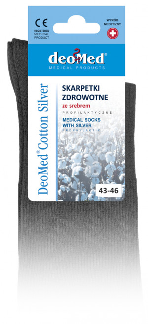 Ponožky DEOMED COTTON SILVER tmavě šedá 39-42