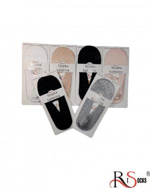 Dámské krajkové ponožky ťapky s bavlněnou podešví 5693256