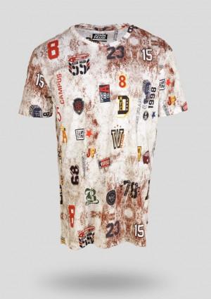 Pánské tričko John Frank JFTD12 L Dle obrázku