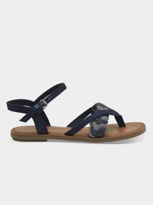 Sandály Toms Navy Denim/Chambray Wm Lexie Sand Modrá