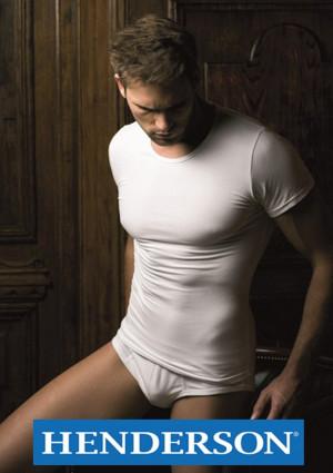 Pánské tričko Henderson 1495 Basic Line  L Bílá