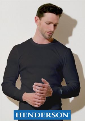 Pánské tričko Henderson 2149 Basic Line  M Černá