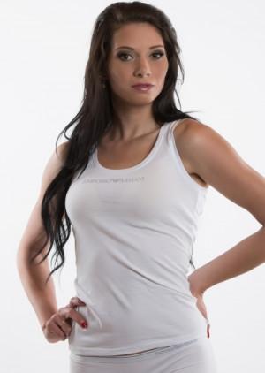 Dámské tričko Emporio Armani 163319 CC317  L Bílá
