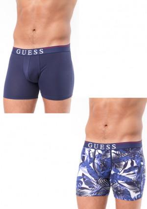Pánské boxerky Guess U92G06 2PACK  L Modrá