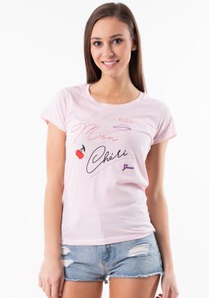 Dámské tričko Guess O92I00  L Světle růžová