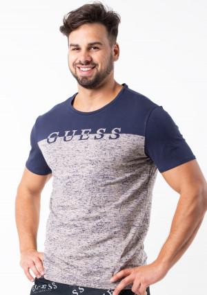 Pánské tričko Guess U92M03  L Tm. modrá