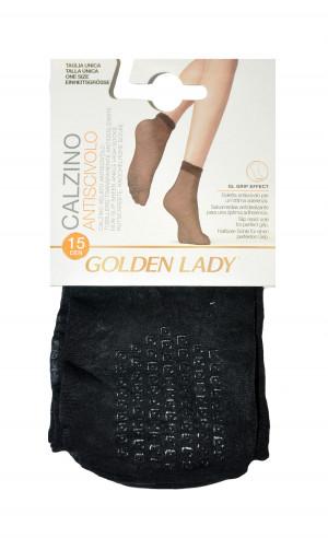 Dámské ponožky Golden Lady 16G Antiscivolo ABS 15 den A'2 gobi/odstín béžové univerzální