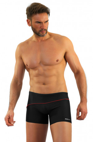 Pánské plavky boxerky BD 314 MAXI tmavě šedá 3XL