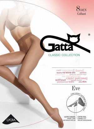 Dámské punčochové kalhoty Gatta Eve 8 den 5-XL béžová 5-XL