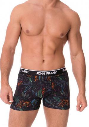 Pánské boxerky John Frank JFBD237 L Černá