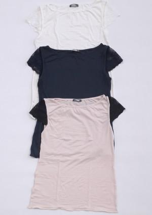 Dámské tričko Cotonella GD259 L Krémová
