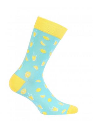 Vzorované pánské ponožky PERFECT MAN-CASUAL aqua 42/44