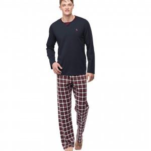 Pánské pyžamo 00-15-7396-102 tmavě šedá - Vamp tmavě šedá