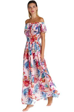 Plážové šaty E92H11WO03A - Guess světle růžová