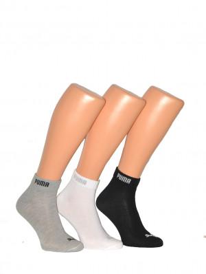 Ponožky Puma 4001 Basic Quarter A'3 černá 43-46