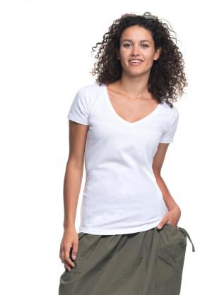 Dámká hlenka/košilka V-neck 22200 šedá-žíhaná