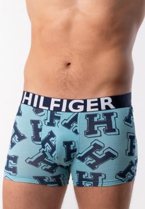Pánské boxerky Tommy Hilfiger UM0UM01369 L Peprmint-bílá