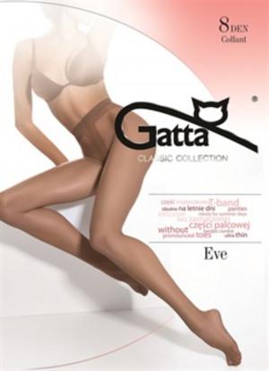Dámské punčochové kalhoty EVE - LYCRA MAT 8 DEN zlatá 5-XL