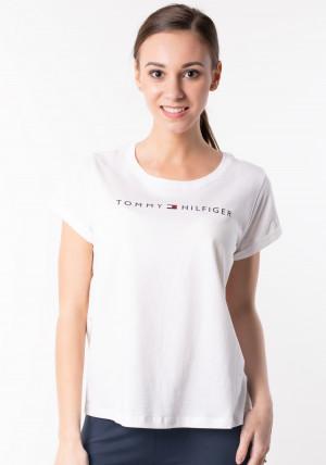 Dámské tričko Tommy Hilfiger UW0UW01618 M Bílá