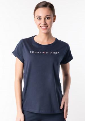 Dámské tričko Tommy Hilfiger UW0UW01618 M Tm. modrá