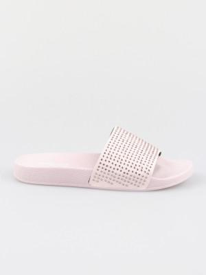 Pantofle Trussardi Slipper Pu Strass Crystal Color Růžová
