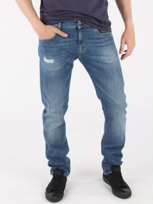 Džíny Trussardi 370 Extra Slim Seasonal - Denim Modrá