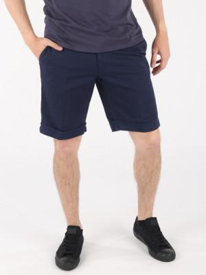Kraťasy Trussardi Aviator Fit Shorts - Garment Dyed Modrá