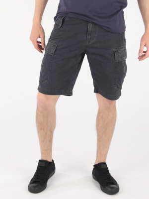 Kraťasy Trussardi Cargo Fit Short - Garment Dyed Černá