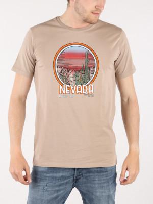 Tričko Trussardi Cotton Jersey T-Shirt Regular Fit Hnědá
