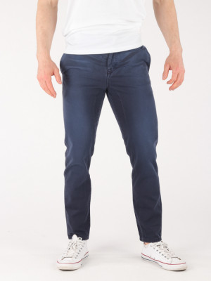 Džíny Trussardi Tapered Fit - Garment Dyed Modrá