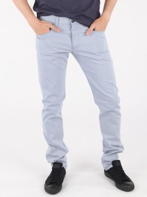 Džíny Trussardi 370 Extra Slim Seasonal - Garment Dyed Modrá