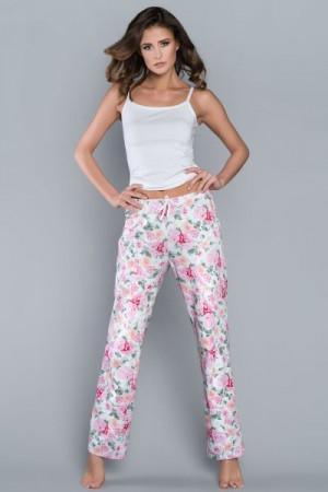 Italian Fashion Peonia dl.k. Pyžamové kalhoty L biały/kwiaty