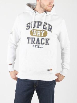Mikina Superdry Super Track Metallic Hood Bílá