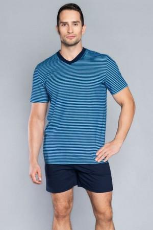 Italian Fashion Gary kr.r. kr.k. Pánské pyžamo XL tmavě modrá