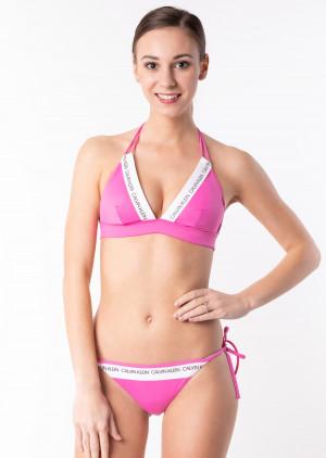 Dámské plavky Calvin Klein KW0KW00591 + KW0KW00650 M Růžová
